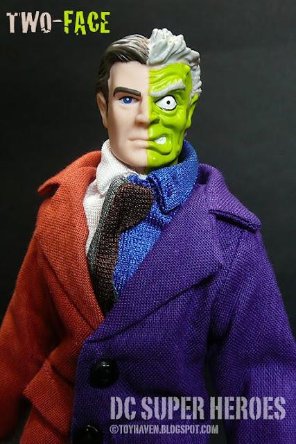 """Two Face Harvey Dent: Toyhaven: Mattel Retro-Action Two-Face 8"""" Figure REVIEW"""