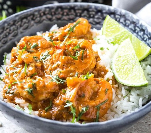 QUICK EASY AND HEALTHY COCONUT SHRIMP CURRY #dinner #indianrecipes