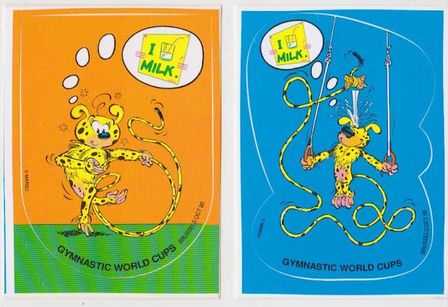 Autocollant, Gymnastic world cups, 1990, Marsupilami