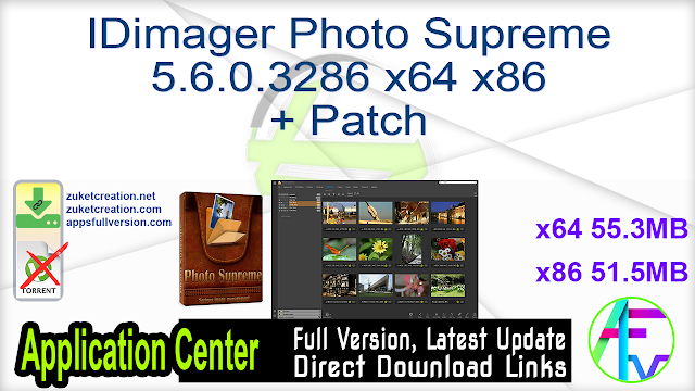 IDimager Photo Supreme 5.6.0.3286 x64 x86 + Patch