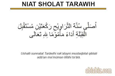niat sholat tarawih