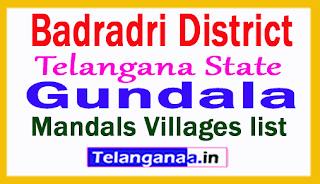 Gundala Mandal Villages in Badradri Kothagudem District Telangana