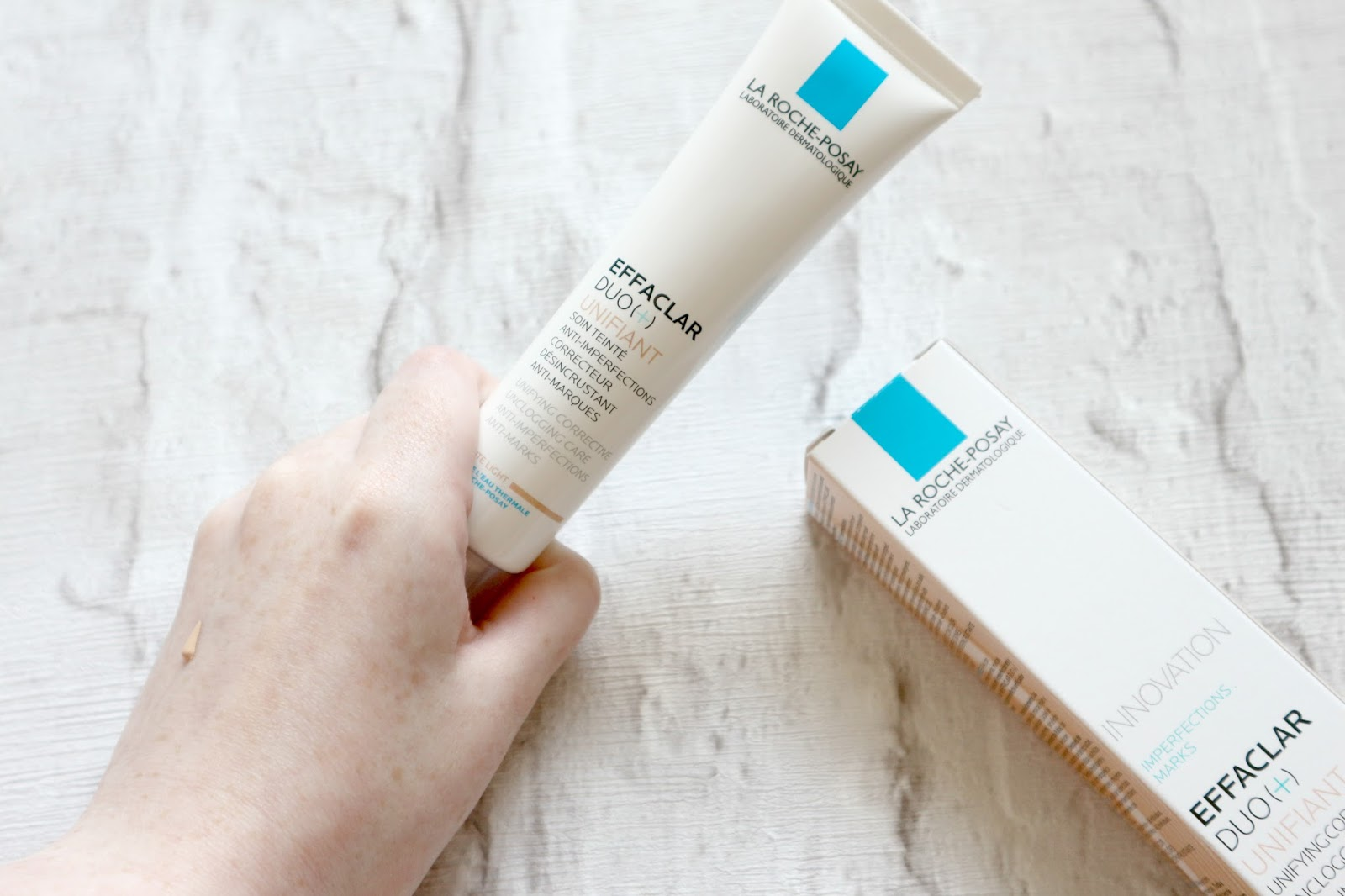 La Roche-Posay Effaclar Duo + Unifiant Swatches Beauty Blog