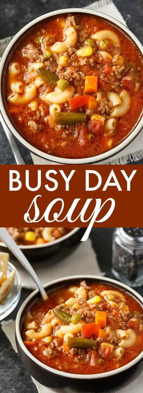 New Busy Day Soup Recipes
