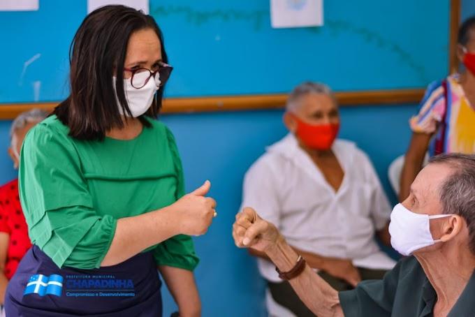 Saldo positivo de 560 idosos vacinados no Dia D de Vacinação contra a Covid-19,  em Chapadinha.