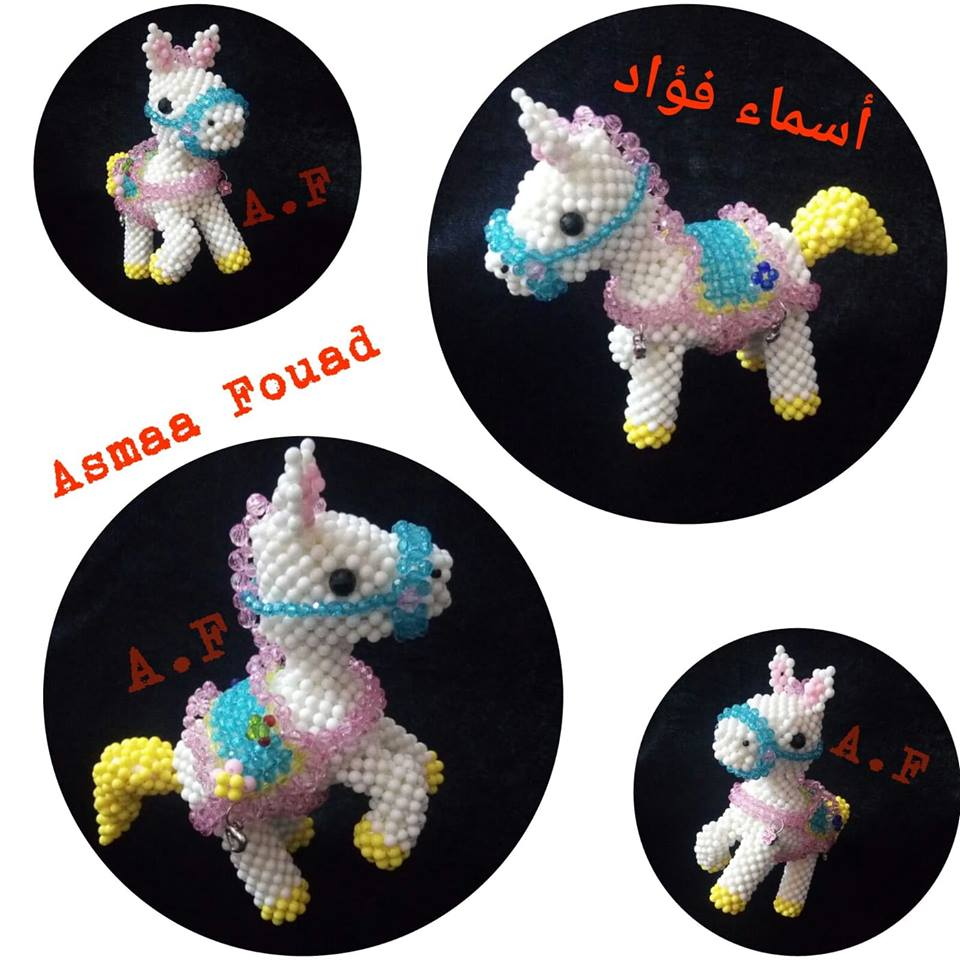 0a4a19c9b48e6 حصرى طريقة عمل حصان من الخرز - أسماء فؤاد لمشغولات الخرز
