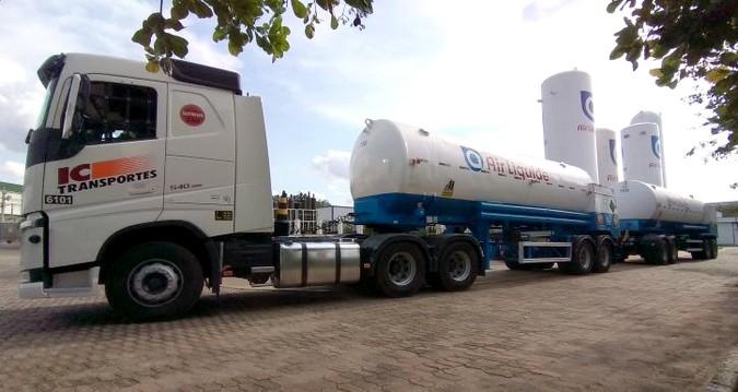 Air Liquide desenvolve rodotrem exclusivo para transporte de oxigênio medicinal