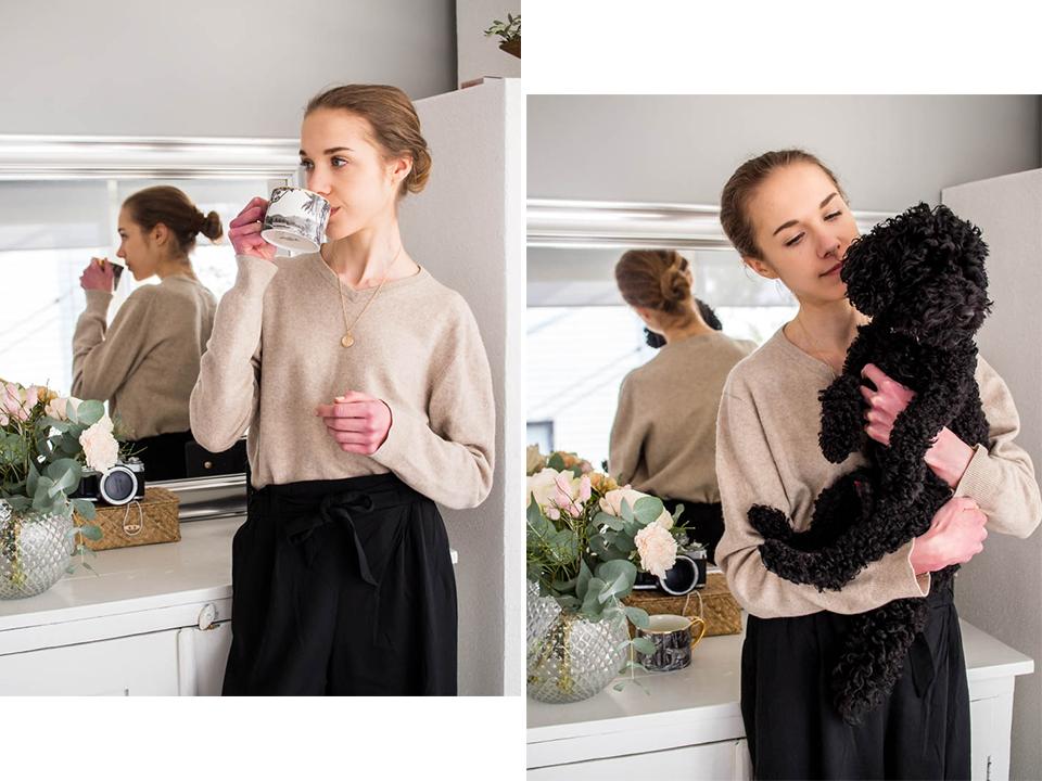 Fashion blogger home office outfit - Muotibloggaaja, kotitoimisto, toimistotyyli