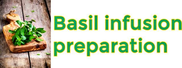 How to prepare basil infusion?