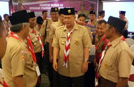Terpilih Jadi Ketua Kwarda, Nasrul Abit Serukan Pramuka Ikut Memerangi Narkoba dan LGBT