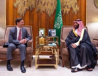 وزير الدفاع الأمريكي يلتقي بن سلمان