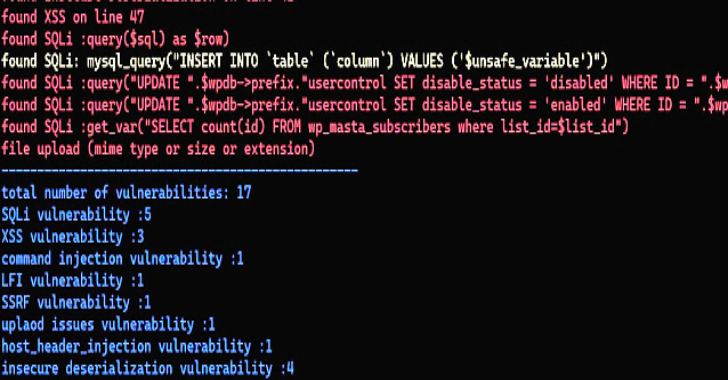Php_Code_Analysis : Scan your PHP code for vulnerabilities