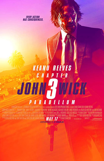 John Wick Chapter 3 Parabellum 2019 Unofficial Hindi Dubbed BluRay 480p 400MB poster