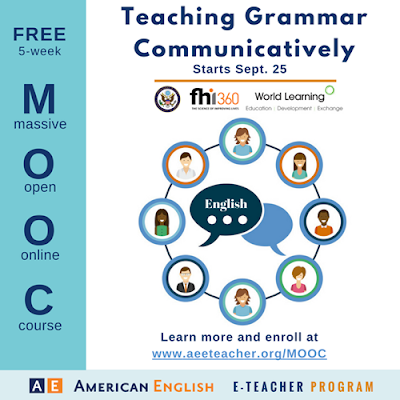 Teaching Grammar Communicatively MOOC, Sept. 25, 2017