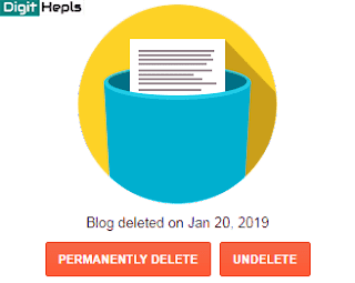 How to Restore your deleted blog