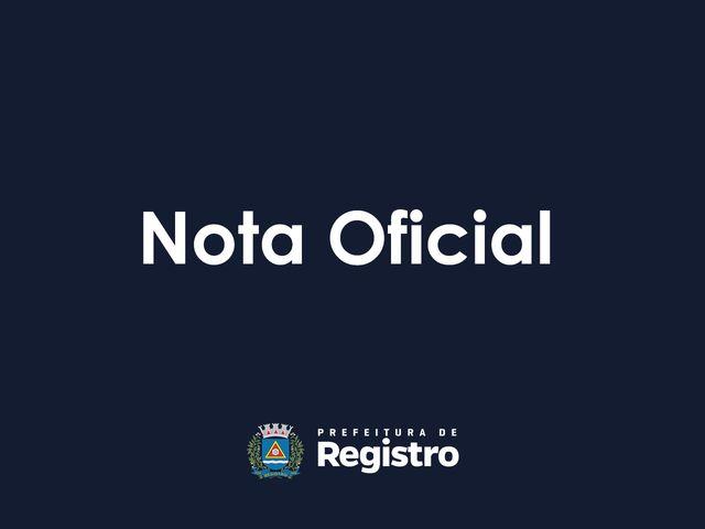 Nota oficial – ETEC de Registro-SP