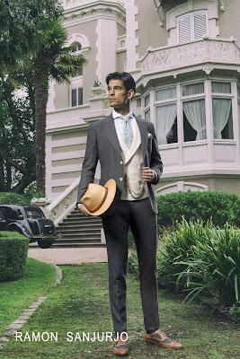 Ramón Sanjurjo, sastrería, bodas, boda, traje de novio, traje de novio azul, traje de novio moderno, traje hombre, traje cruzado, wedding,