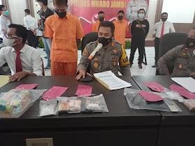 Polres Muaro Jambi Amankan Tiga Bandar Narkoba jaringan Lapas
