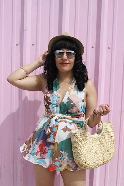 Kate Spade Sunglasses and L'ATISTE Romper Las Vegas Summer Outfit | Will Bake for Shoes