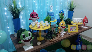 Decoração festa infantil Bebê Tubarão Porto Alegre