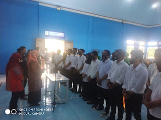 Sah'Wakil Bupati Sinjai Melantik Pengurus Karang Taruna Desa Aska Periode 2020-2023