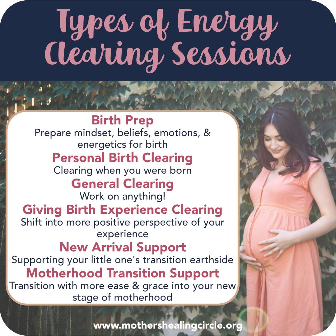 Energy work for birth preparation and motherhood