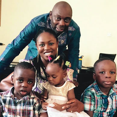 image result for segun arinze family,wife and children