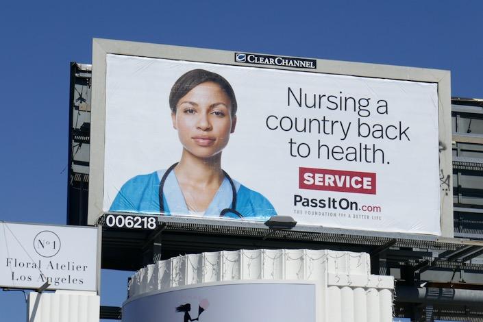 Nursing country back to health Service billboard