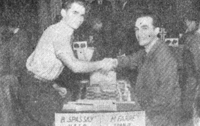 Partida de ajedrez Farré–Spassky, Amberes 1955