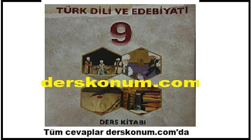 9. Sınıf ÖĞÜN YAYINLARI Türk Dili ve Edebiyatı Ders Kitabı PDF İNDİR
