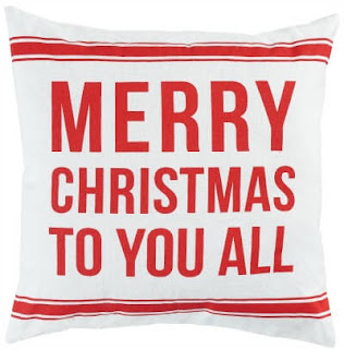 Merry Christmas red and whitie pillow