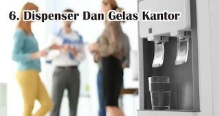Dispenser Dan Gelas Kantor menjadi tempat yang paling banyak terdapat bakteri di kantor