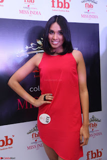 Spatika Surapaneni in Red Tight Dress at FBB Miss India 2017 finalists at Telangana auditions Feb 2017 (28).JPG