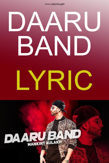DARU BAND LYRIC | Mankirt Aulakh | Video