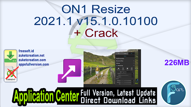 ON1 Resize 2021.1 v15.1.0.10100 + Crack