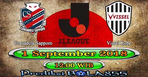 Prediksi Bola855 Consadole Sapporo vs Vissel Kobe 1 September 2018