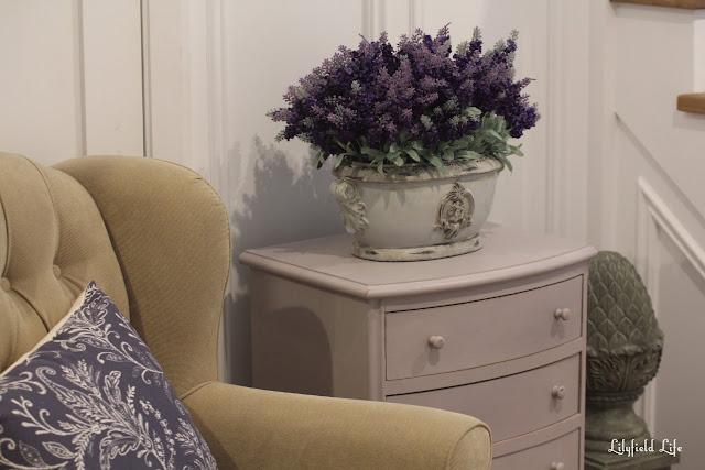 Lilac Bedroom Bin