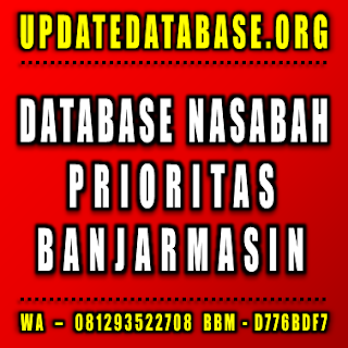 Jual Database Nasabah Prioritas Banjarmasin