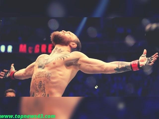 MMA Star Conor McGregor Celebrates A Successful Comeback
