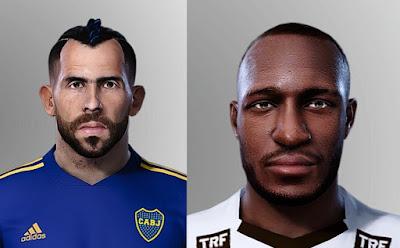 PES 2021 Faces José Luis Sinisterra & Carlos Tevez by FedeX1206
