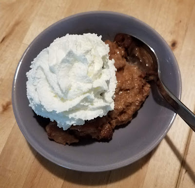 Chocolaty Chocolate Chip Bread Pudding, creamy and delicious, from your Pressure Cooker!