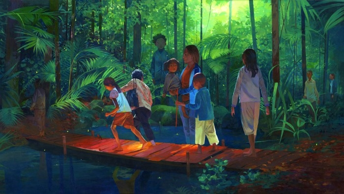 Камбоджийский художник. Andrew Hem