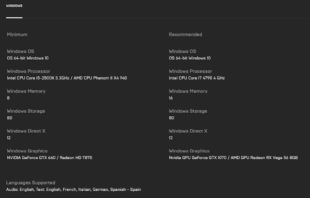 Spesifikasi PC untuk Hitman 3