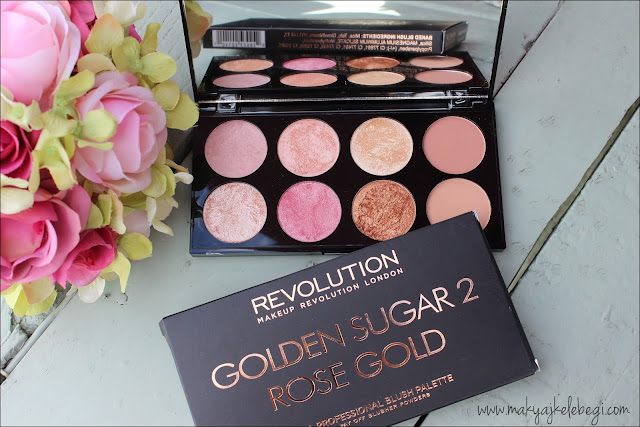 Makeup Revolution Golden Sugar 2 Rose Gold Blush Palette