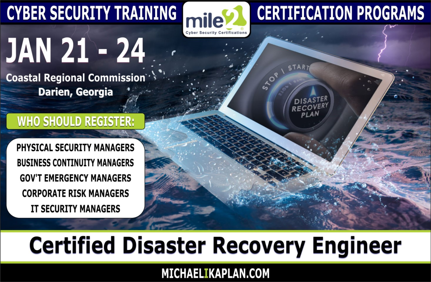 Michael I Kaplan Cyber Security Certification Courses In Darien