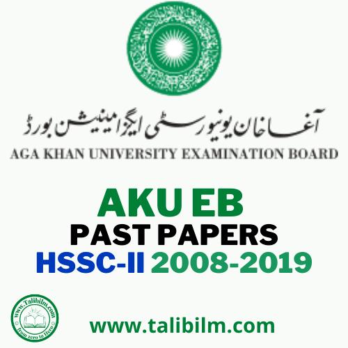 AKU-EB Past Papers HSSC part-II