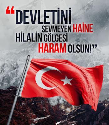 Devletini sevmeyen haine hilalin gölgesi haram olsun, ayyıldız, türk bayrağı, türk, dağ, bayrak, tc, türkiye