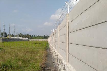 Pagar Panel Beton Lampung terbaik - Dijual harga terpasang terima beres