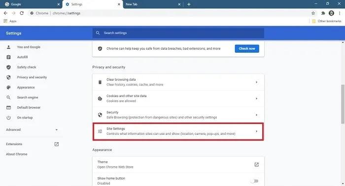 كيفية إيقاف إعدادات موقع سطح المكتب لإخطارات Chrome
