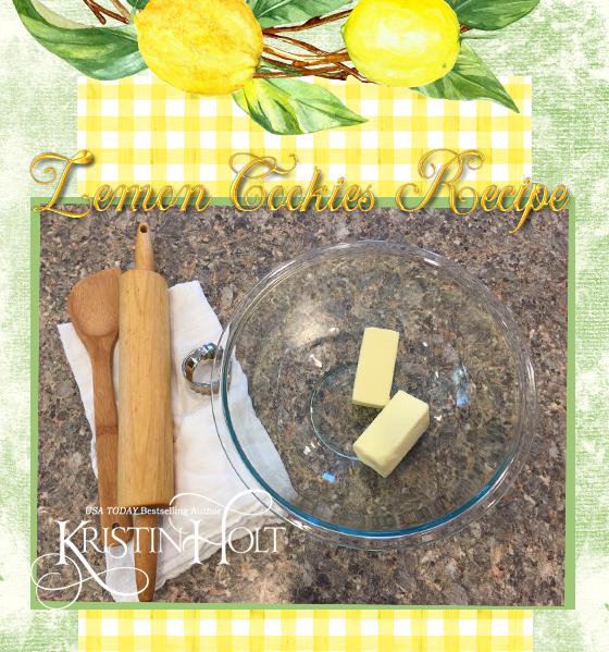 Kristin Holt | Lemon Cookies (1895) step 1: Gather ingredients. Soften butter.